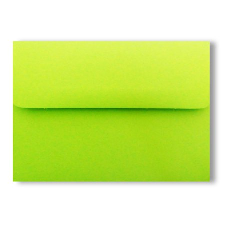 Shipped Free 25 Boxed Lime Green A2 (4-3/8 X 5-3/4) Envelopes for 4-1/8 X 5-1/2 Response Enclosure Invitation Announcement Wedding Shower Communion Christening Cards By Envelopegallery