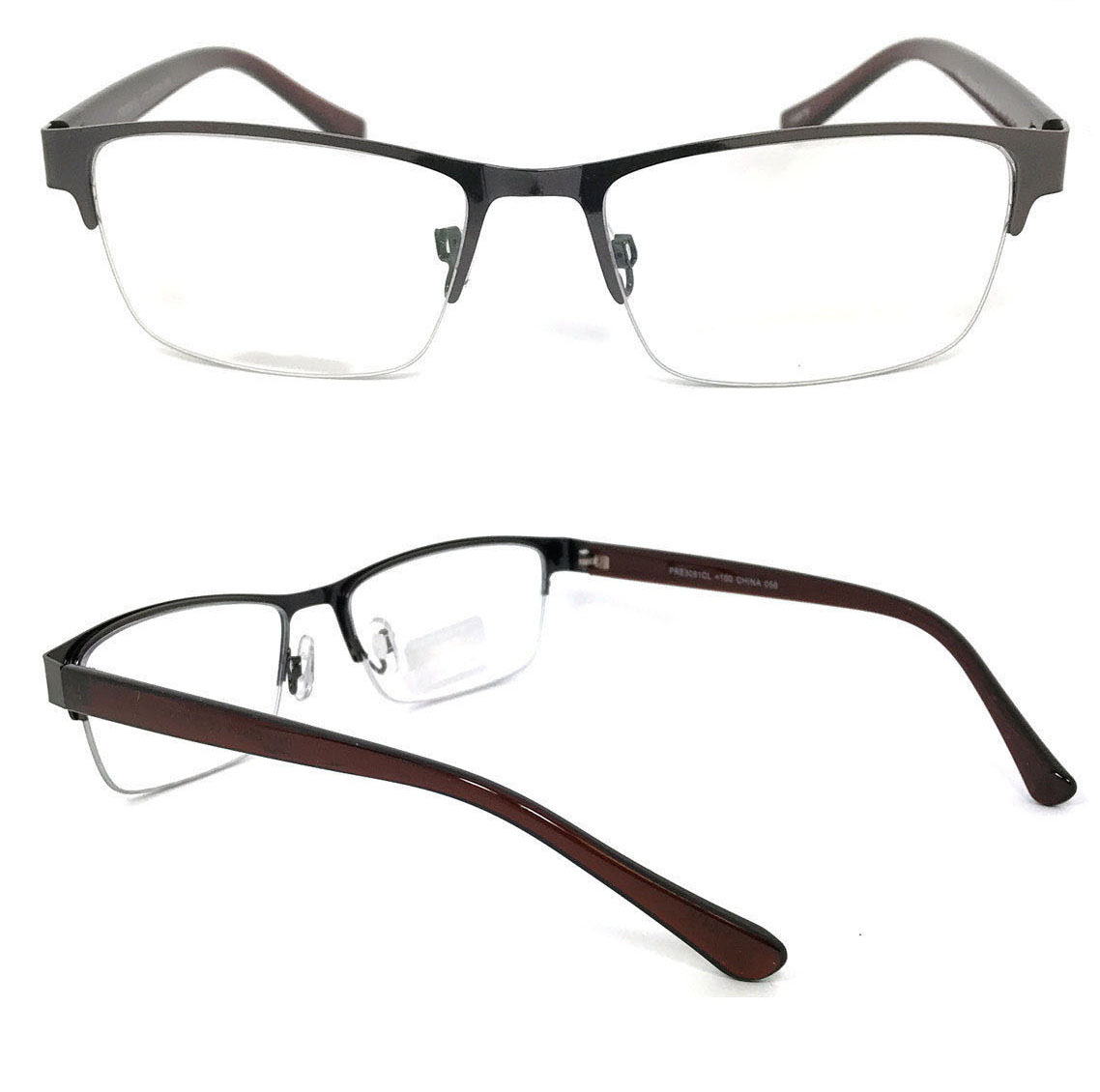 1 Pair Metal Rectangular No Line Progressive Trifocal Clear Lens Reading Glasses - Better Then Bi-Focal bifocal Reader