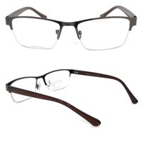 3466787b1a4 Product Image 1 Pair Metal Rectangular No Line Progressive Trifocal Clear  Lens Reading Glasses - Better Then Bi