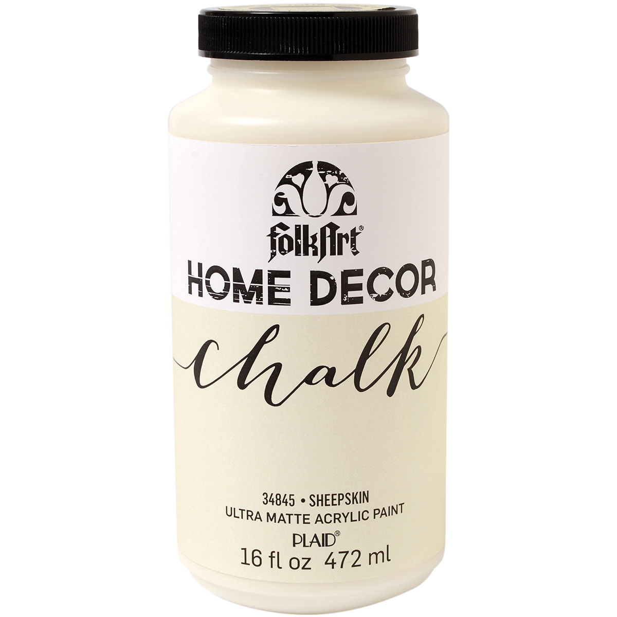 Folkart Home Decor Chalk Paint 16oz-Sheepskin