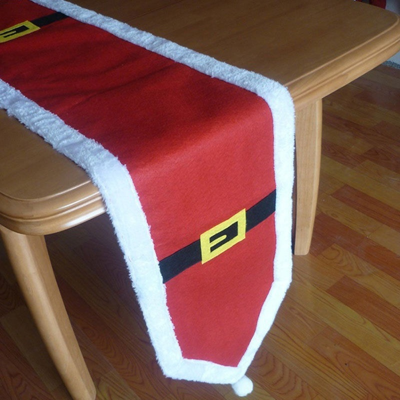 One-time Christmas Tree//Snowman//Santa//Xmas Bell Tablecloth Cover Cloth Decor
