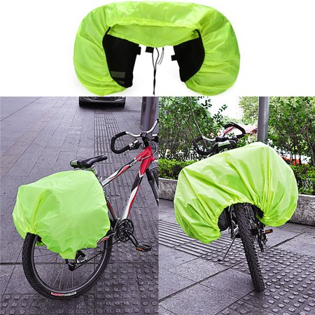 Bicycle Bike Rear Seat Tail Seat Bag Case Double Side Waterproof Pannier  Pouch Saddle Bicycle Accessories Bag Reflective Stripe