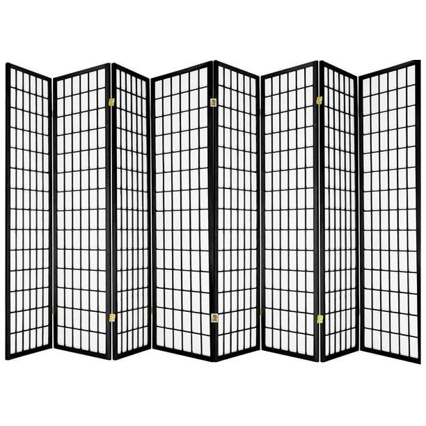 Legacy Decor Japanese Oriental Style 8 Panel Room Divider 71 Tall Black Color Walmart Com Walmart Com