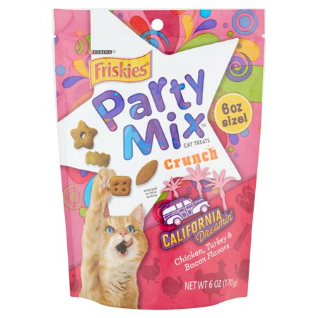Purina Friskies Party Mix Crunch California Dreamin' Cat Treats 6 oz. Pouch