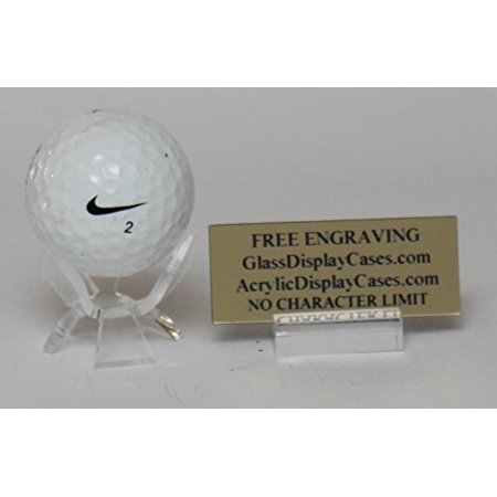Golf Ball Hole in One - Eagle - Best Game / Round 3 Wing Display Stand with Custom Name Plate Holder - Free No Limit Engraved Name