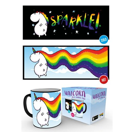 Unicorn Merchandise (Unicorn - Thermal Ceramic Heat Change Coffee Mug / Cup (Sparkle /)