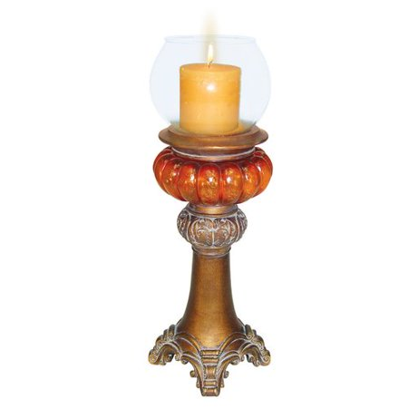 GOLD AMBER CANDLE HOLDER