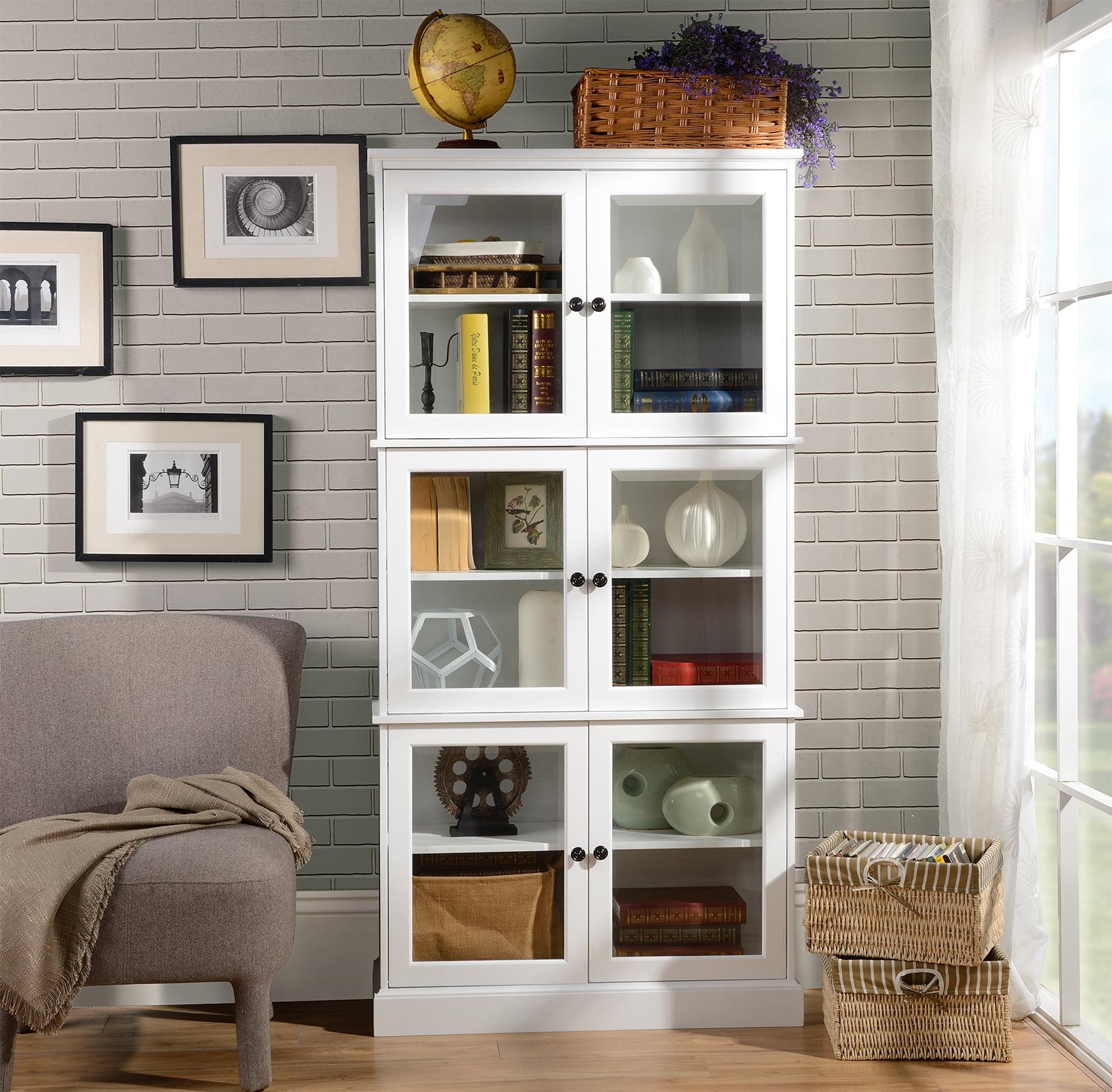Homestar North America Pantry 6 Doors Cabinet, White ...