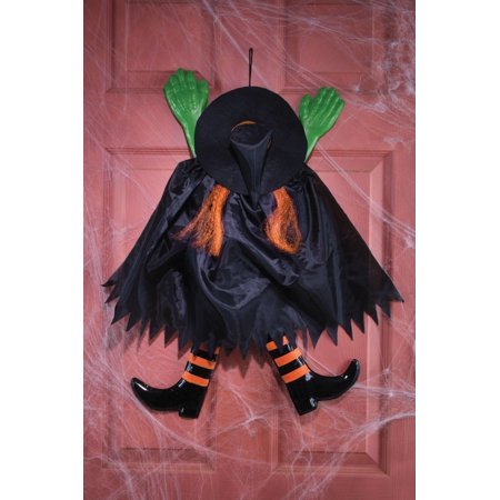 Fun World Halloween Witch Trick or Treat Outdoor Door Prop, 27