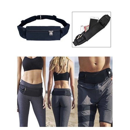 Dry Waist Pouch - IClover Running Waist Bag Fanny Pack / Hip Pack Pouch for Man Women Sports Travel Hiking / Money  iPhone 6/6s Plus 7/7 Plus 8/X/8 Plus Samsung S8 Black All Sizes