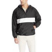Charles River Men's Striped CRS Pullover,XX-Large,Black/White