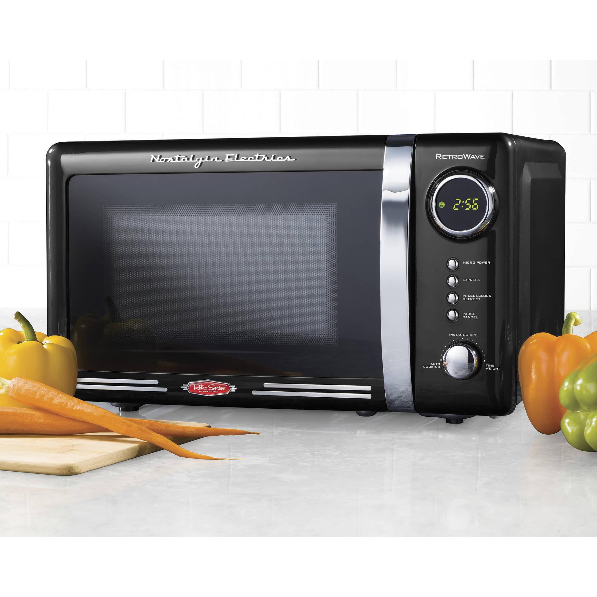 Nostalgia Rmo770blk Retro Series 0 7 Cu Ft 700w Microwave Oven
