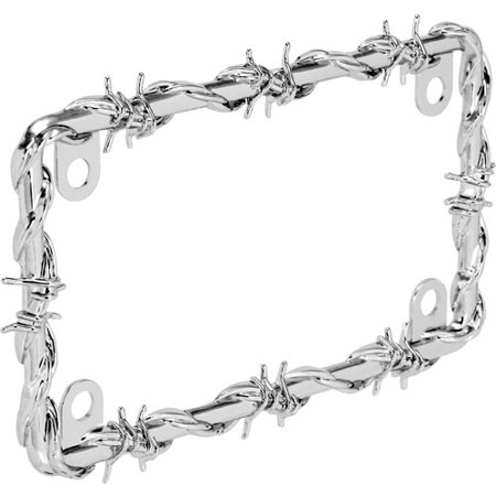 Bell Motorcycle Barbed Wire License Plate Frame - Walmart.com