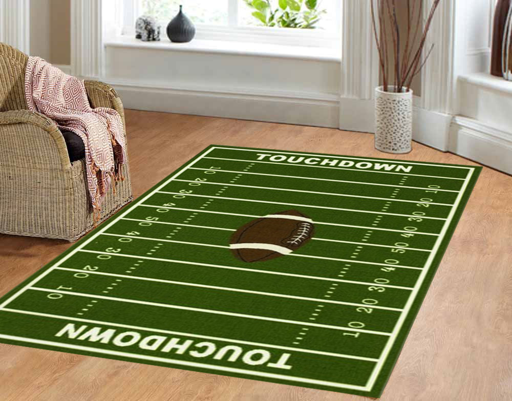 Furnishmyplace All Stars Football Field Kids Area Rug ...