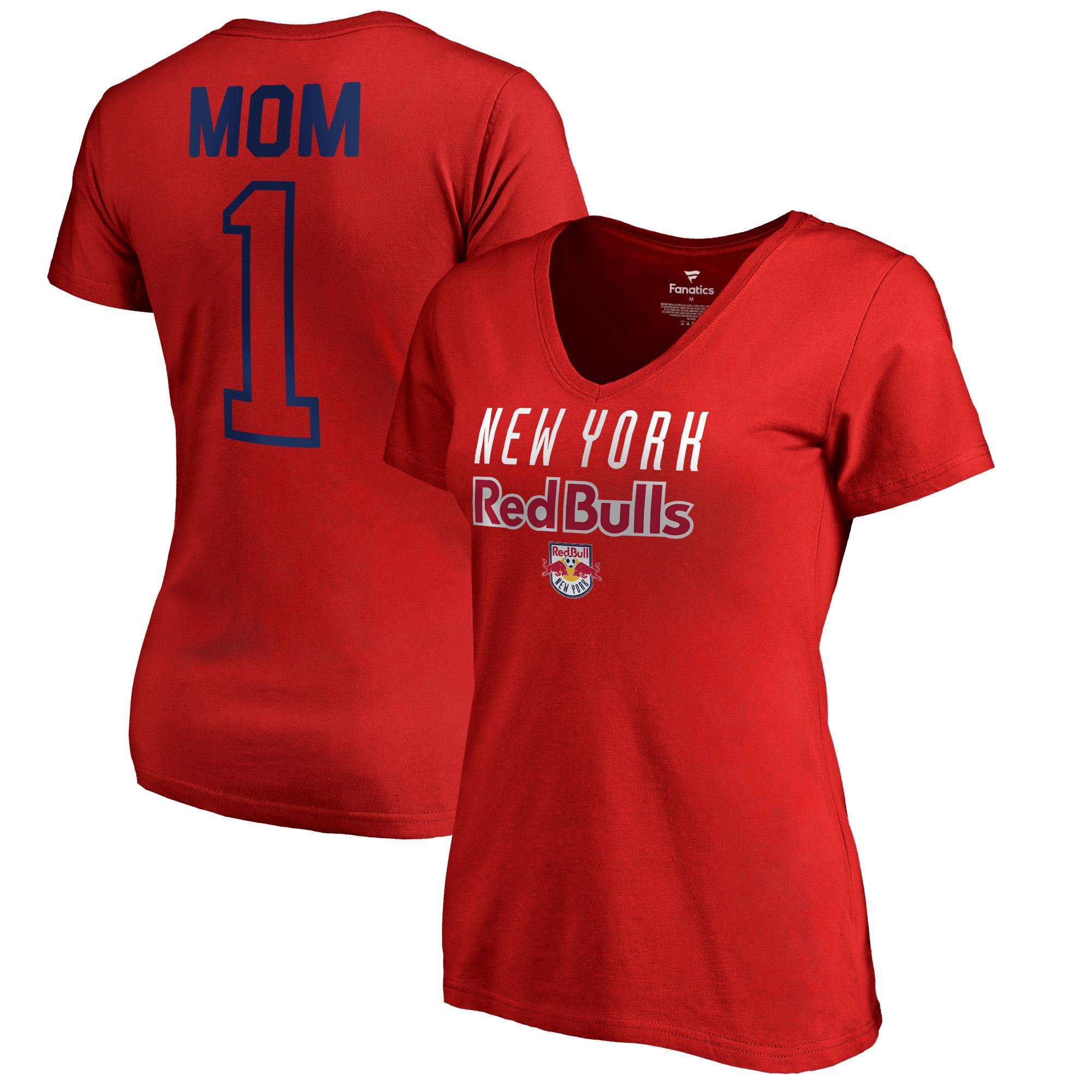 New York Red Bulls Fanatics Branded Women's #1 Mom T-Shirt - Red