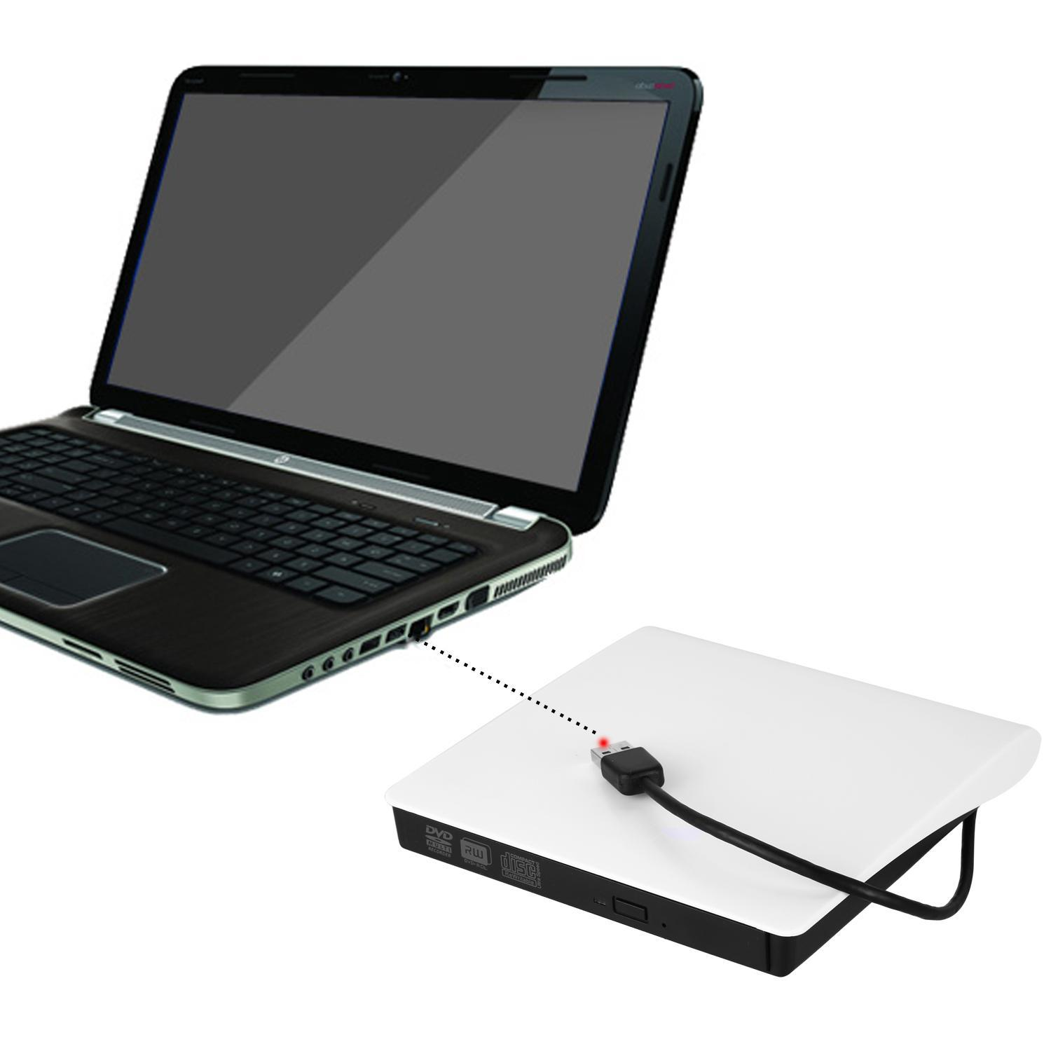 Slim External USB 3.0 DVD RW CD Writer Drive Burner Reader Player For Laptop PC WIMA