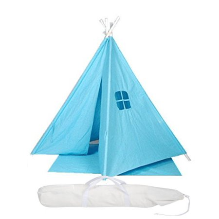 Indoor Indian Playhouse Toy Teepee Play Tent for Kids Toddlers Canvas Teepee