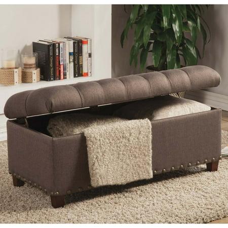 Tremendous A Line Furniture Tosin Nailhead Tufted Storage Ottoman Bench Theyellowbook Wood Chair Design Ideas Theyellowbookinfo