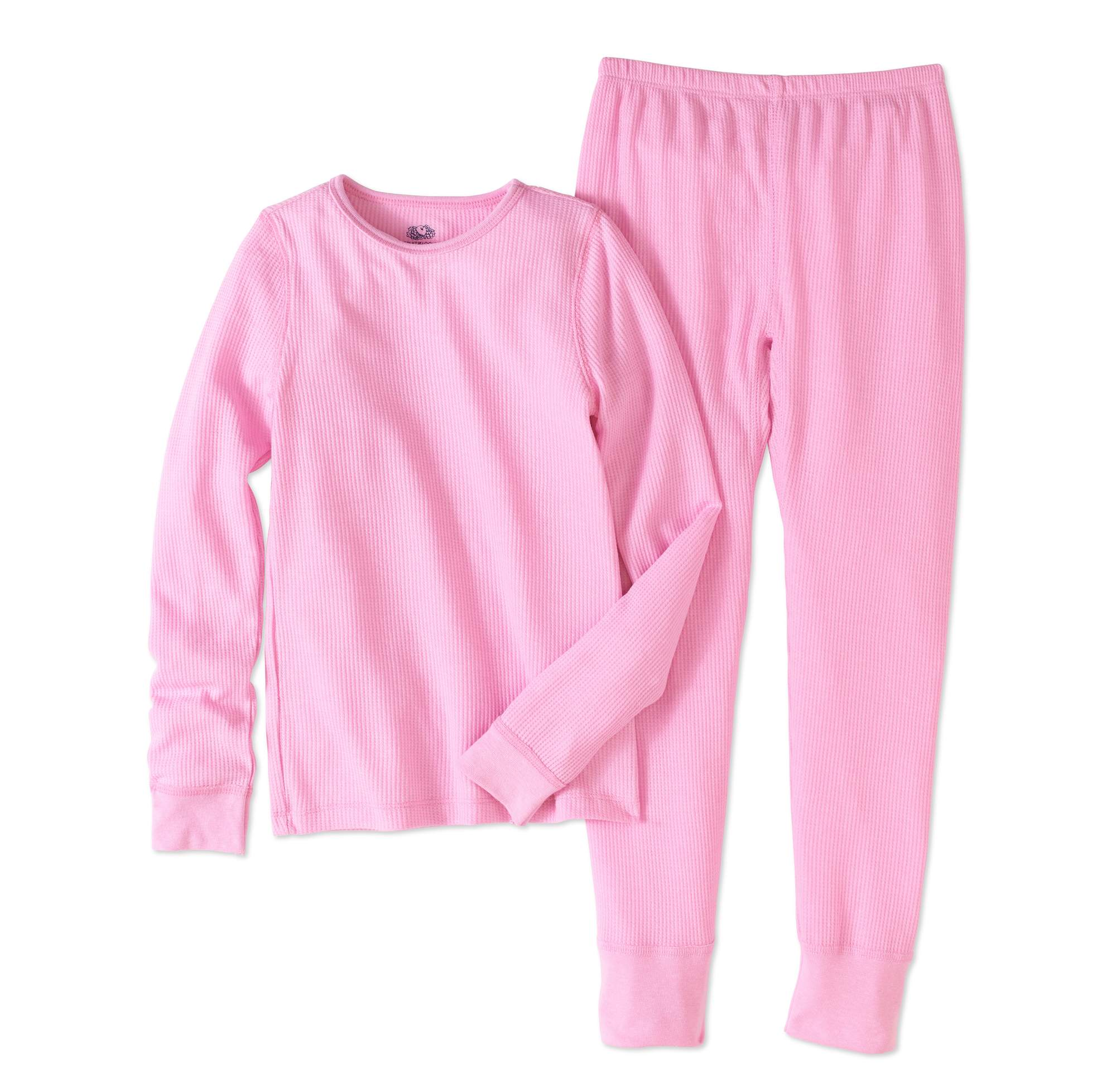 Fruit of the Loom Girls' Soft Waffle Thermal Underwear Set by Generic