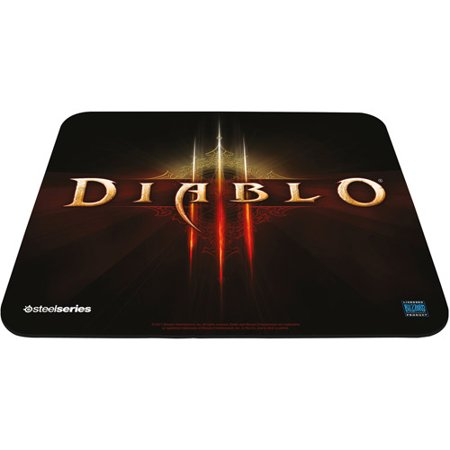- SteelSeries QcK Limited Edition Diablo III Logo Edition Gaming Mouse Pad