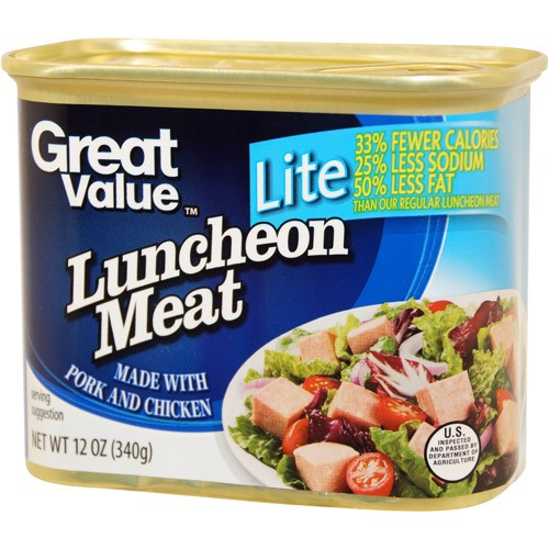 (3 Pack) Great Value Light Luncheon Meat 12 oz, 12 oz