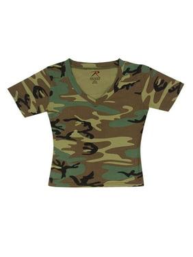 Product Image Women s V-Neck Short Sleeve Woodland Camo T-shirt eb2d840be00c