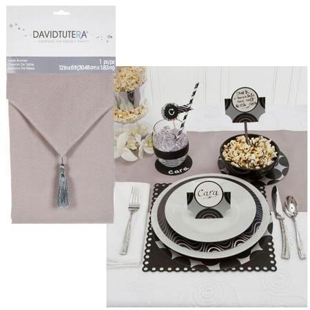 David Tutera Silver Table Runner: Cloth, 12 x 72 inches](David Tutera My Fair Wedding Halloween)