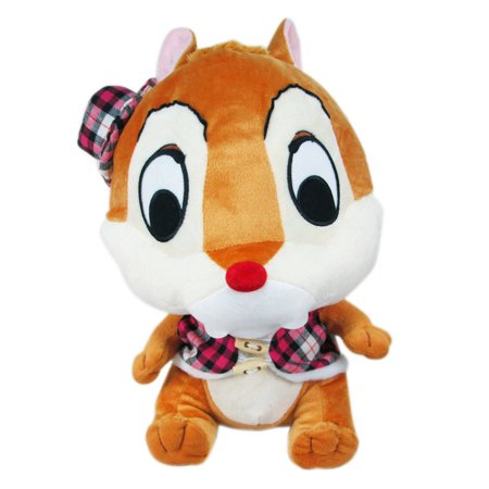 Disney's Chip & Dale Plaid Shirt and Top Hat Dale Plush Toy (12in)
