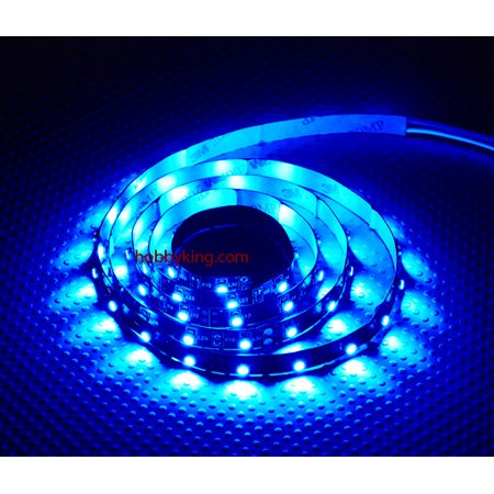 HobbyFlip R/C LED Flexible Strip - BLUE (1 meter) Night Flying for RC - Remote Control Flying Halloween Props