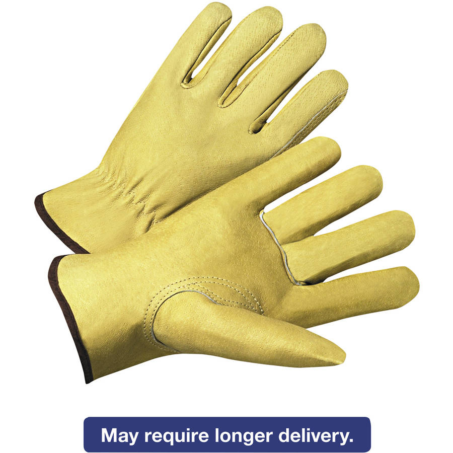 Anchor Brand 4000 Series Pigskin Leather Driver Gloves, Beige, Large, 12 Pairs