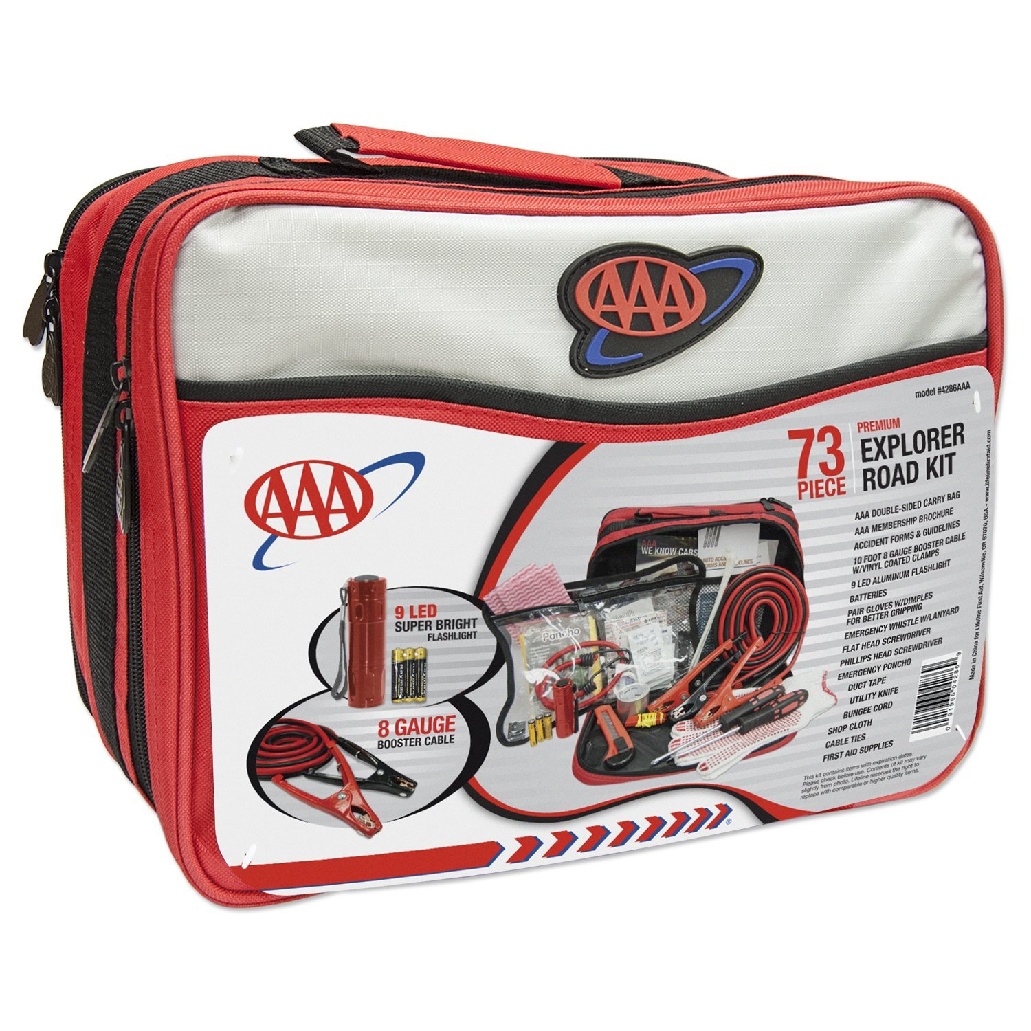 AAA 4386AAA Explorer Road Show Emergency Assistance Kit 73 Piece