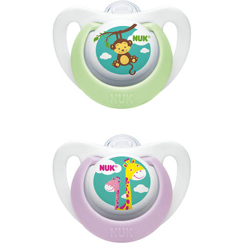 NUK Advanced Newborn Orthodontic Pacifiers, Set of 4, Size 0, Girl by Nuk
