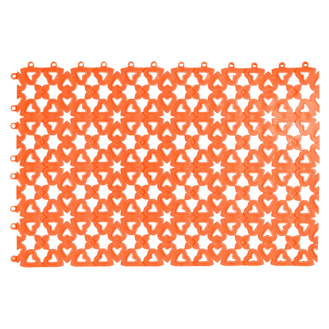Plastic Free Split Joint Water Resistant Anti-slip Shower Bath Mat Orange