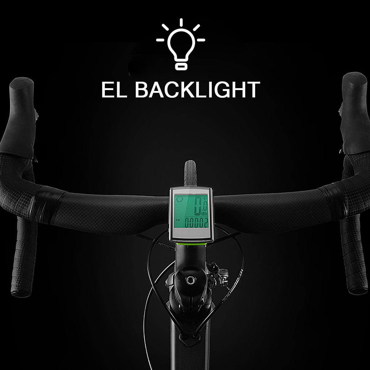 IP65 Waterproof Wireless LCD Cycling Bike Bicycle Computer Odometer Speedometer