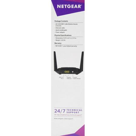 Netgear Ac1200 Wifi Docsis  3 0 Cable Modem Router
