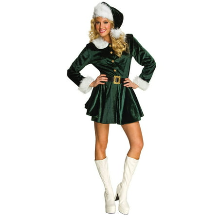 Womens Santa's Green Helper (Jolly Green Santa's Helper Christmas Costumes)