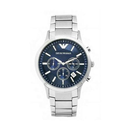 Emporio Armani AR2448 Men's Chronograph Blue Dial (Chronograph Gunmetal Dial Watch)