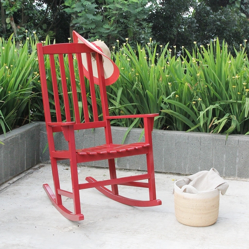 Cambridge Casual  Alston Porch Rocking Chair - Red