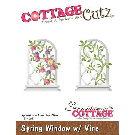 """Cottagecutz Die-Spring Window W/Vine 1.8""""X2.5"""" - image 1 de 1"""