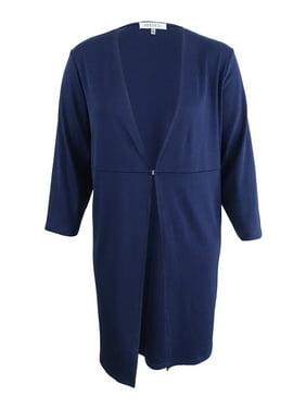 b413342a7815ab Product Image Kasper Women s Plus Size Knit Topper Jacket (3X