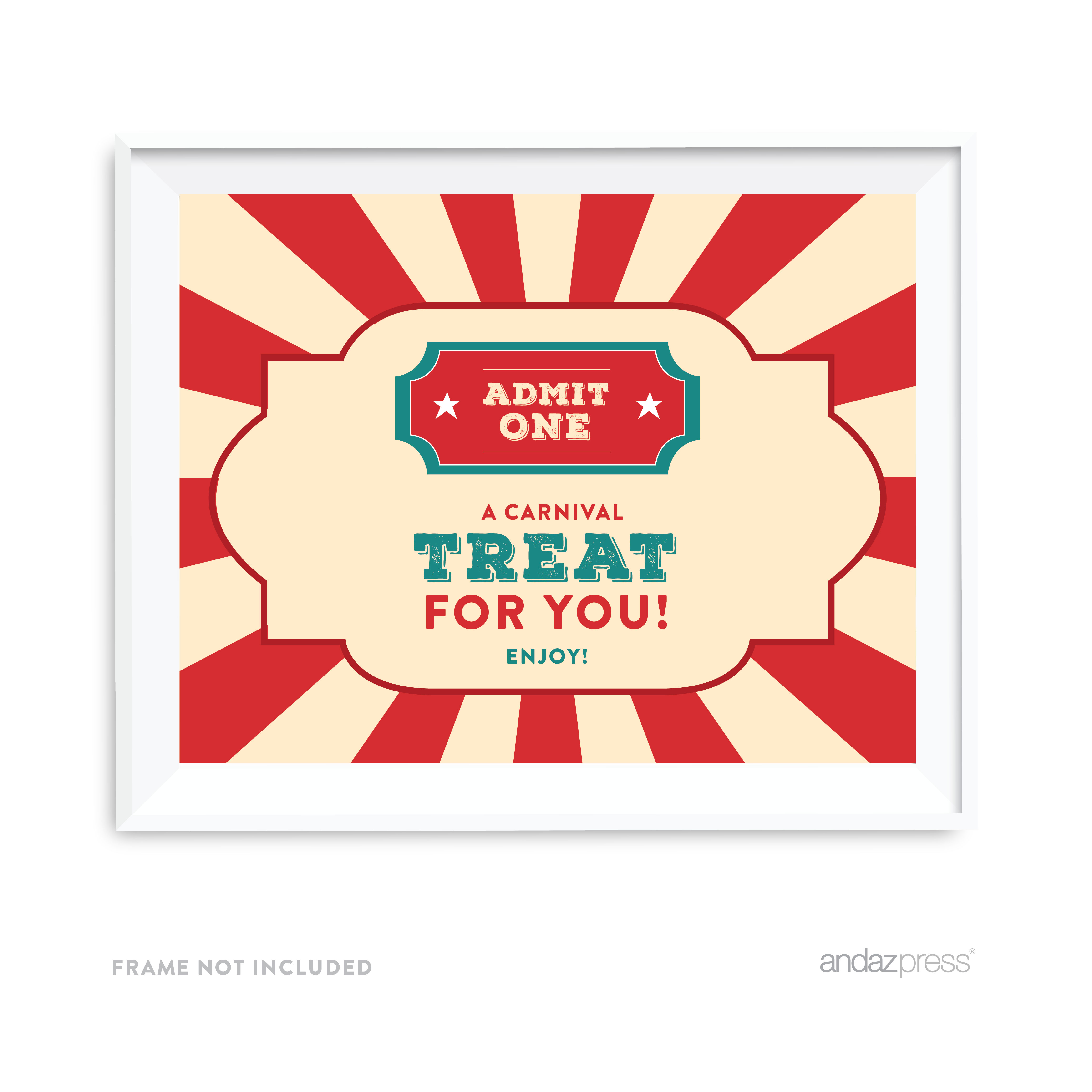 A Carnival Treat For You To Enjoy! Carnival Circus Birthday Party Signs