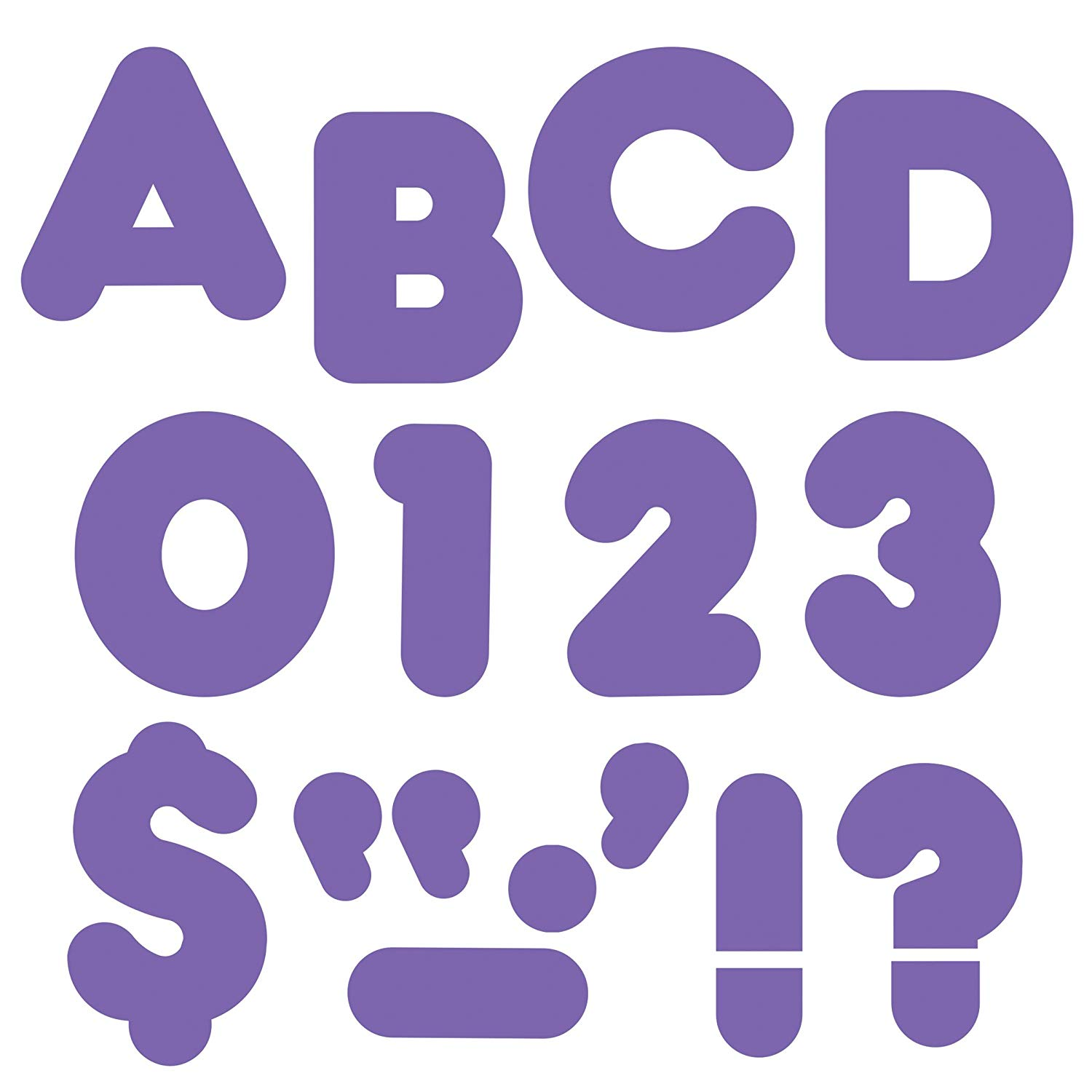 "TREND enterprises, Inc. Purple 4"" Casual Uppercase Ready Letters, Convenient punch-out letters great for displays, signage, learning activities, labeling, and.., By Trend Enterprises Inc"