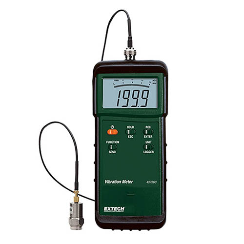 Extech 407860-NIST Heavy Duty Digital Vibration Meter wit...