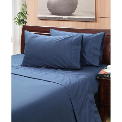 Vintage Indigo 400 Thread Count Hemstitch Sheet Set King