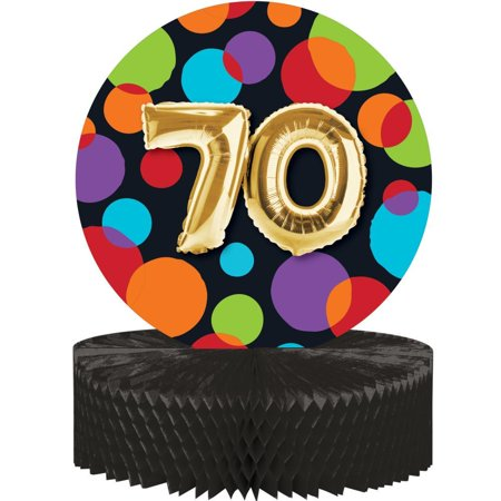 Creative Converting Balloon 70th Birthday Centerpiece
