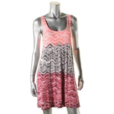 Becca by Rebecca Virtue Womens Pattern Sleeveless Dress Swim Cover-Up Pink M
