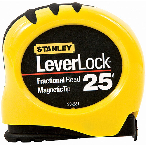 "Stanley Hand Tools 33-281 1"" X 25' LeverLock Tape With Magnetic Tip"