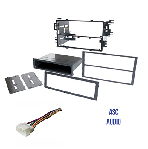 asc audio car stereo dash kit and wire harness for