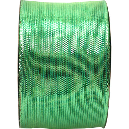 """Holiday Time Fabric Ribbon, Lime, 2"""" x 9'"""