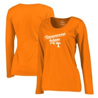 Tennessee Volunteers Fanatics Branded Women's Plus Sizes Team Mom Long Sleeve T-Shirt - Orange